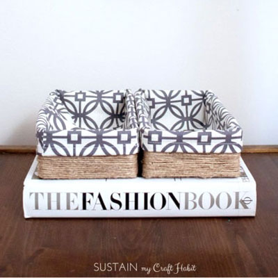 DIY Upcycled tissue box storage baskets - easy home decor project