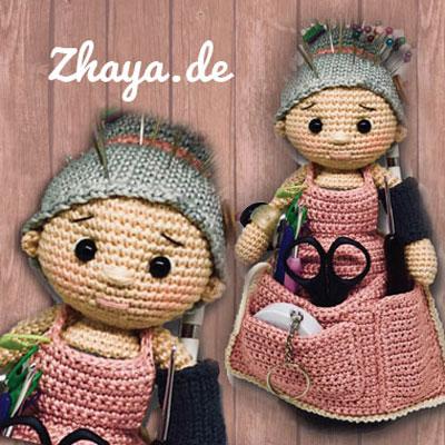 Amigurumi craft granny - crochet granny organizer (free pattern)