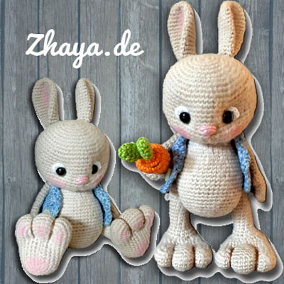 Adorable amigurumi bunny in vest (free crochet pattern)