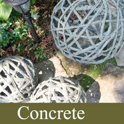 DIY Giant concrete garden orbs - garden decor
