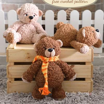 Boco Bear - cuddly amigurumi bear (free crochet pattern)