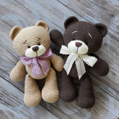 Free Crochet Bear Patterns – Amigurumi Patterns ... | 400x400