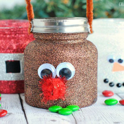 Santa and his friends - christmas treat jars