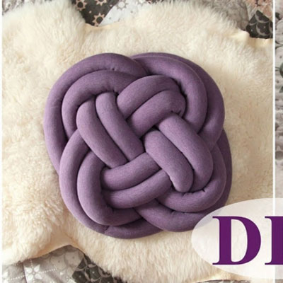 DIY Knot pillow - sewing tutorial