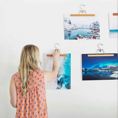 Easy DIY wooden hanger frame - quick picture frame alternative