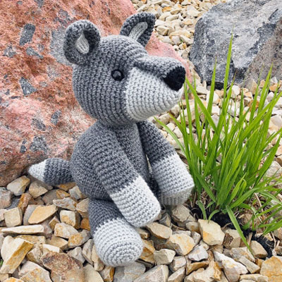AMIGURUMI CROCHET PATTERN • wolf and fox • forest animal ... | 400x400