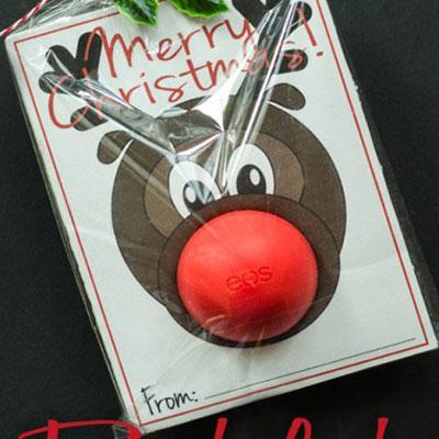 DIY Rudolph reindeer EOS gift card - Christmas gift idea