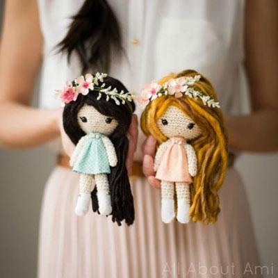 Lady Amigurumi Doll Free Pattern | 400x400