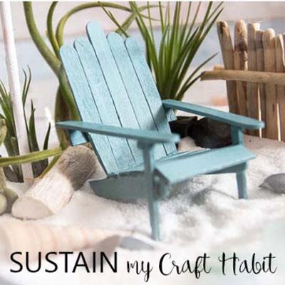 DIY Beach sun chair from craft sticks - summer decor