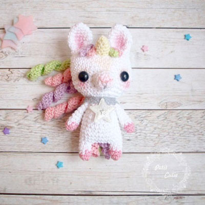 Adorable little amigurumi unicorn ( free crochet pattern )