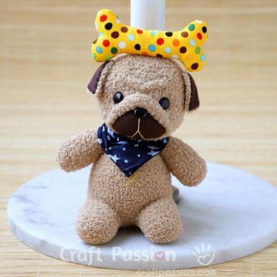 DIY Sock pug (sock puppy) - free sewing pattern
