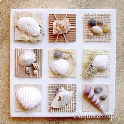 DIY Seashell wall art - summer decor