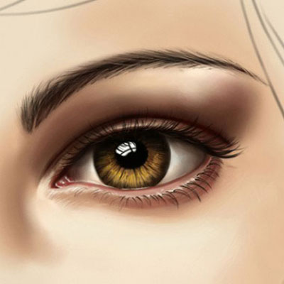 Eye painting tutorial (digital) - how to shade an eye