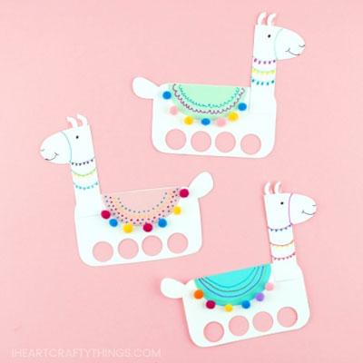 DIY Paper llama finger puppets (free pintable template)