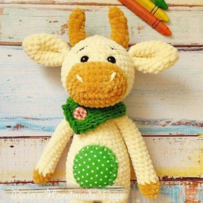 Amigurumi bull - free crochet pattern