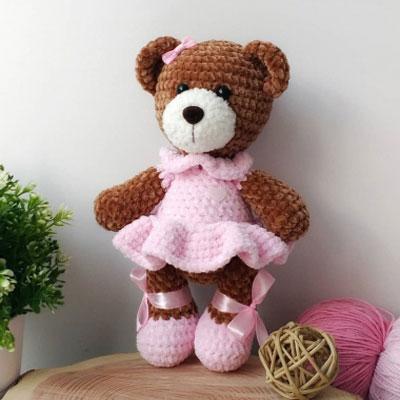 Amigurumi ballerina bear (free crochet pattern)