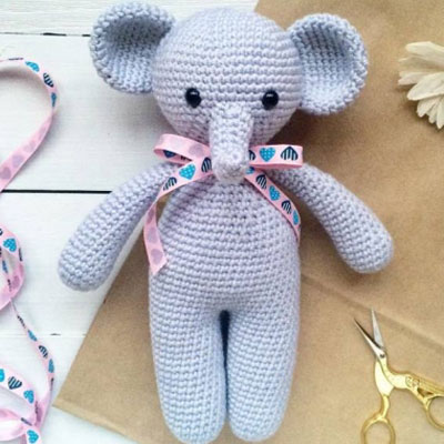 Crochet Elephant Edging Border - ilove-crochet | 400x400