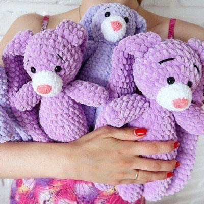 Purple amigurumi bunny (free crochet pattern and video tutorial)