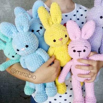 SM SunniMix Crochet Craft Kit - Pink Rabbit Amigurumi: Amazon.in ...   400x400