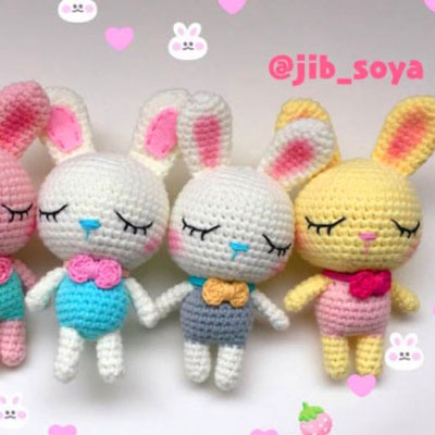Kawaii little amigurumi bunny (free crochet pattern)