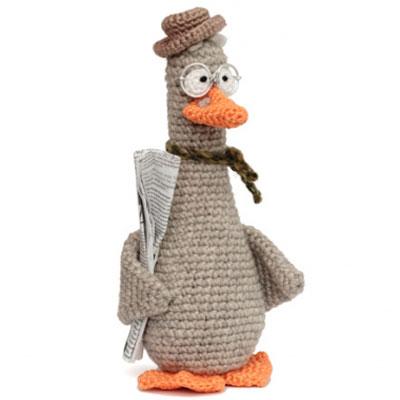 Father goose - amigurumi goose (free crochet pattern)