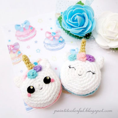 Amigurumi macaron unicorn (free crochet pattern)