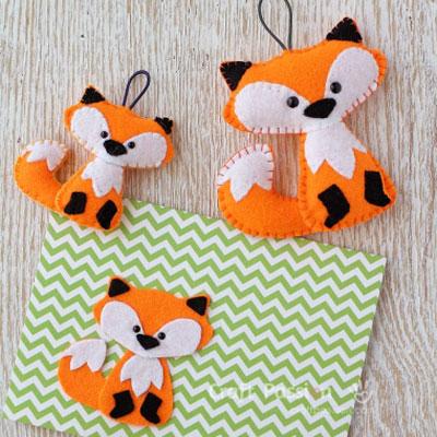 Easy little felt fox (free sewing pattern & tutorial)