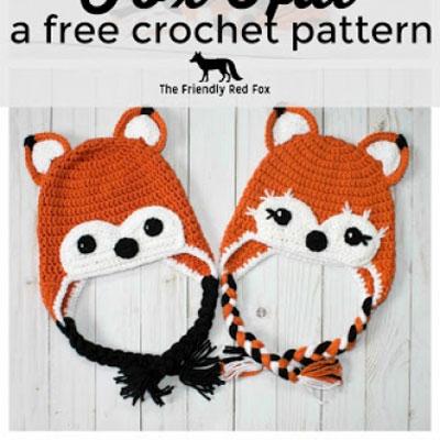 Adorable crochet fox hat - free crochet pattern