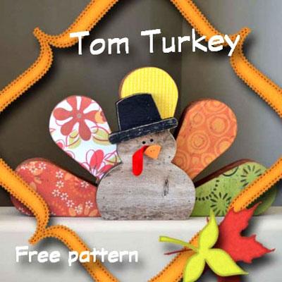 Tom Turkey - DIY thanksgiving decor from scrap wood