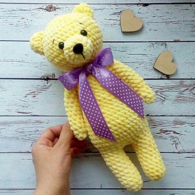 Simple soft amigurumi bear - free crochet pattern