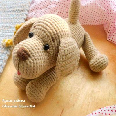 Toshka the amigurumi dog - free crochet pattern