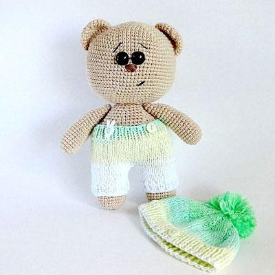Little amigurumi round teddy - free crochet pattern