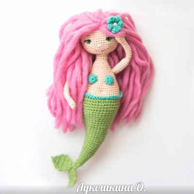 Amigurumi mermaid doll (free crochet pattern)