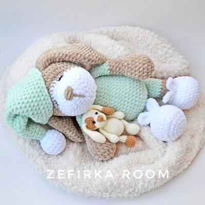 Sonia the sleeping amigurumi dog (free crochet pattern)