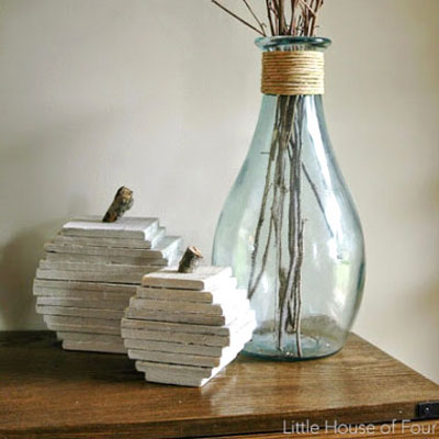 DIY pallet pumpkin - fall decor from scrap woods