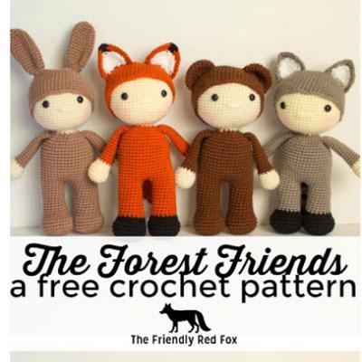 Forest friends - adorable amigurumi animal dolls ( free crochet patterns )