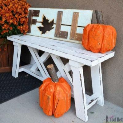 DIY Tree stump pumpkin - log pumpkin