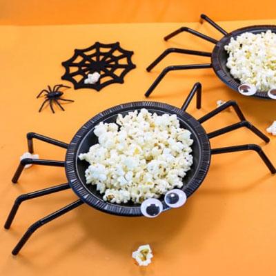 Easy DIY spider Halloween treat bowl