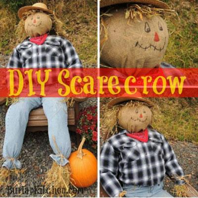 DIY Scarecrow - How to make a scarecrow (tutorial)