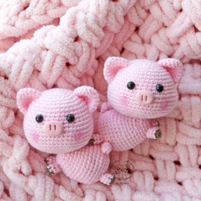 Sweet little crochet pig (free amigurumi pattern)