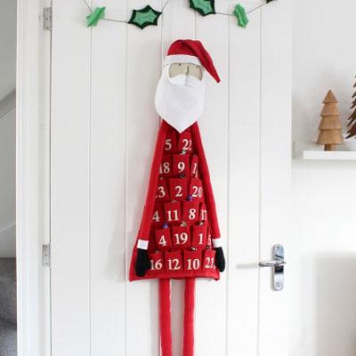 DIY fabric Santa advent calendar