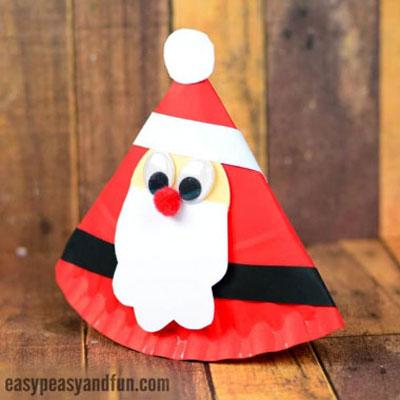 DIY Rocking paper plate Santa - fun Christmas craft for kids