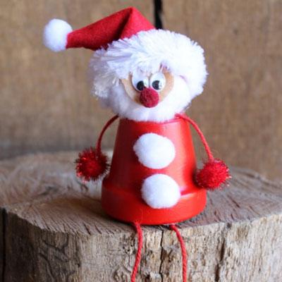 DIY Clay flower pot Santa - adorable Christmas decoration