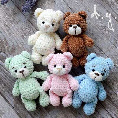 Little plush amigurumi bear (free crochet pattern)