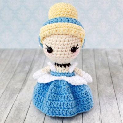 Amigurumi Cinderella doll (Disney princess) - free crochet pattern