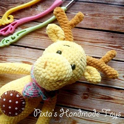 Amigurumi elk ( moose ) - free crochet pattern