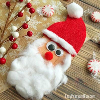 DIY Craft stick Santa - fun Christmas craft for kids