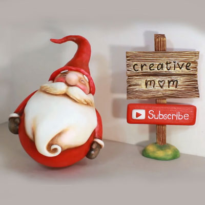 DIY Rocking Santa Christmas decor - recycling craft ( paper clay tutorial )