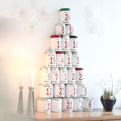 Tin can coffee advent calendar (advent calendar for adults)