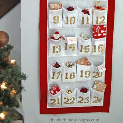 DIY Shoe organizer advent calendar